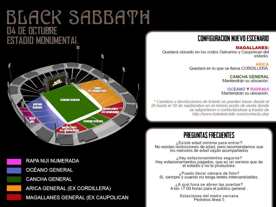 MAPA BLACK SABBATH