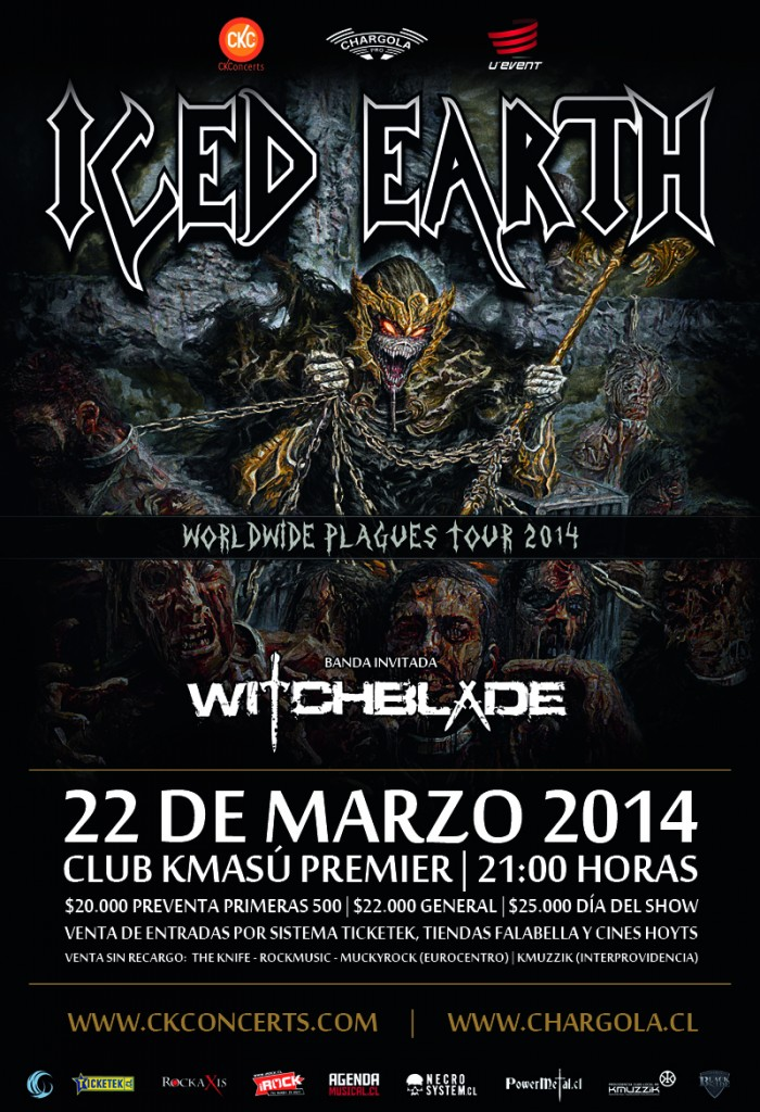 Afiche Iced Earth - Web