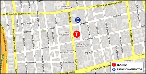 mapa teatro caupolican