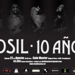 Fósil celebra sus 10 años con show en la Sala Master