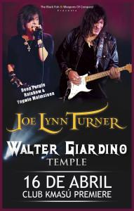 Joe Lynn Turner & Walter Giardino Temple @ Club Kmasú Premiere | Santiago | Región Metropolitana | Chile