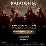 Katatonia en Chile: ¡Agotada platea y últimas entradas de cancha!