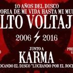 ALTO VOLTAJE celebra 10 años de su disco debut
