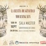 Mourning Sun y La Bestia de Gevaudan se presentan en la Sala Master